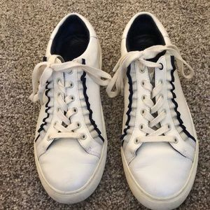 Tory Burch ruffled leather sneaker